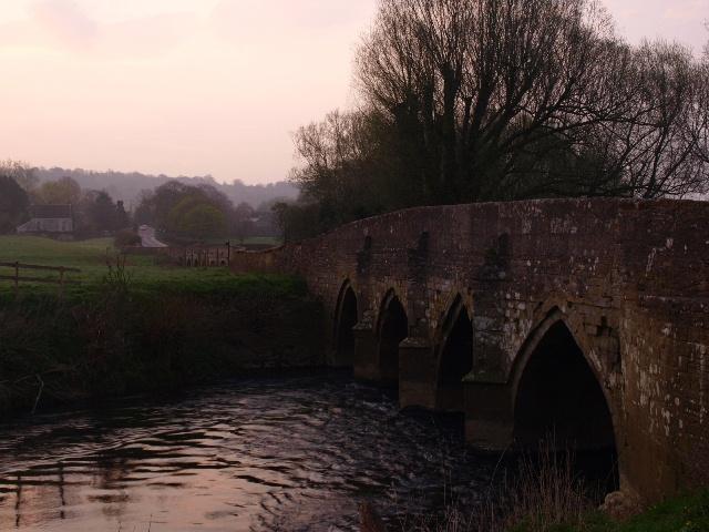 Lacock Bridge, looking towards Bowden Hill