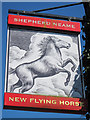 TR0546 : New Flying Horse sign by Oast House Archive