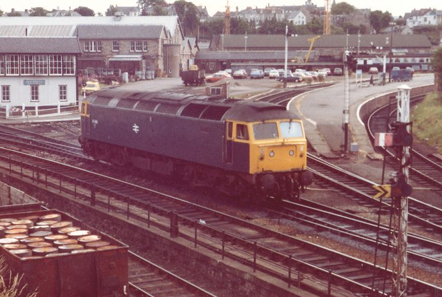 Class 47 Locomotive at Inverness, 1981