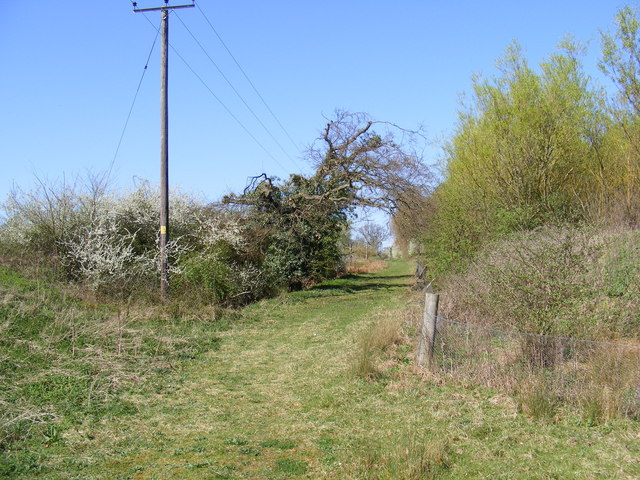 Footpath to the B1438 Yarmouth Road