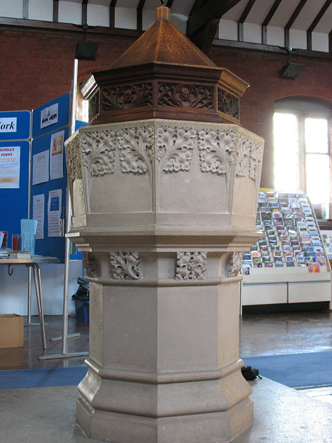 St Luke's church: font