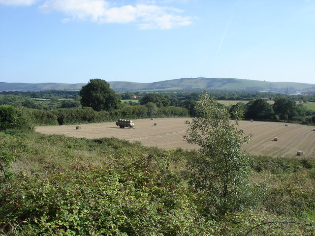 View towards South Downs from South View Terrace