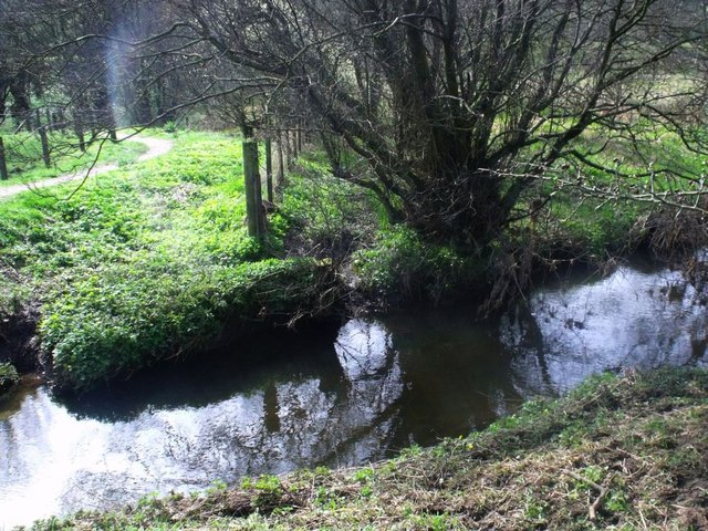 Auchincloch Burn and county boundary