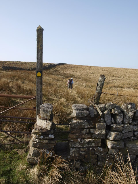 Stile above Greengill Hush