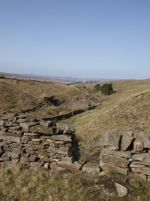 Looking down Garrigill Burn