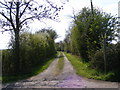 TM2453 : Footpath to Loom's Farm &amp; entrance to Further Hill Farm by Adrian Cable