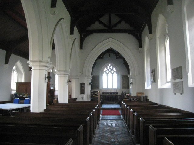 Interior, St. Martin's church, Welton le Wold