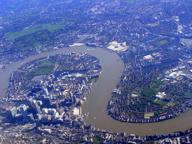 Isle of Dogs from the air