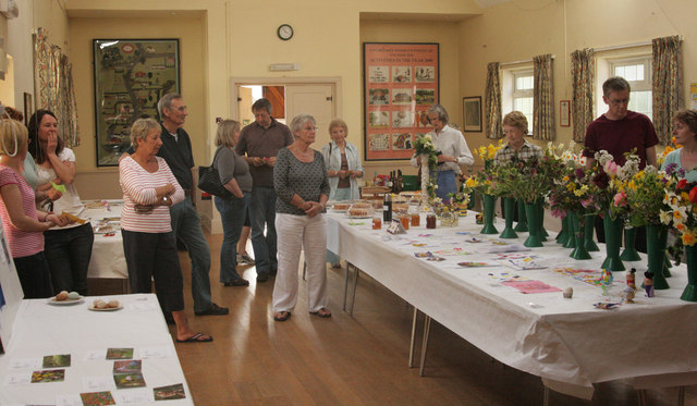 Just before the prizegiving in the Upton Grey Flower Show