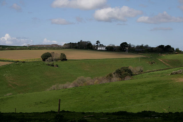 View over a small valley near Millendreath