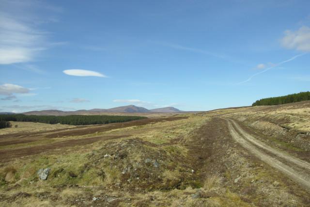 Track along Strath Skinsdale