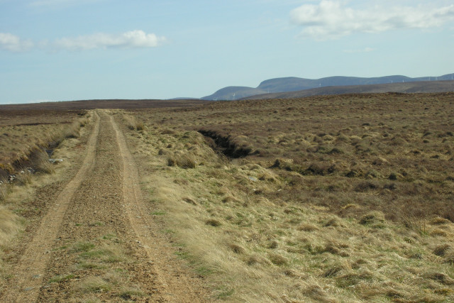 Moorland track running along Strath Skinsdale