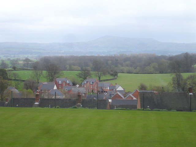 View across the Bowling Green from Church Bank