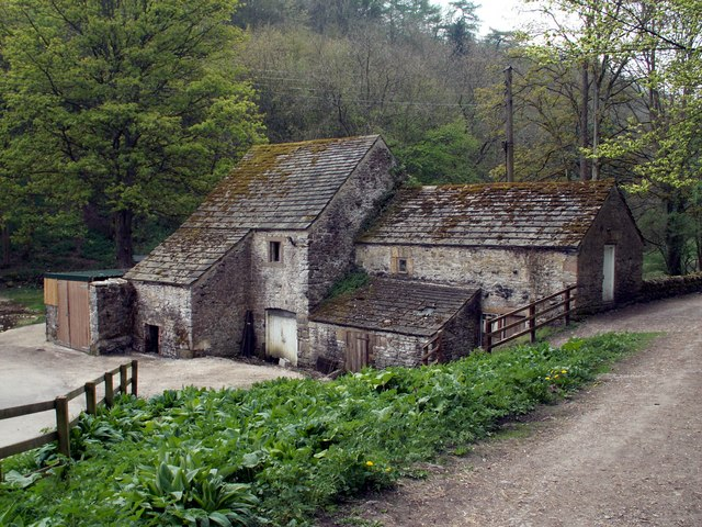 Old Buildings at the entrance to Lathkill Dale Nature Reserve