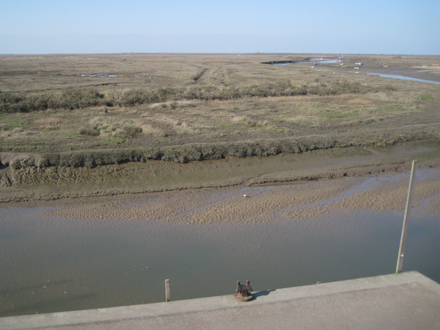 Salt marshes, Blakeney, in March: 2