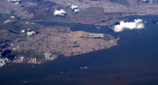 Canvey Island from the air