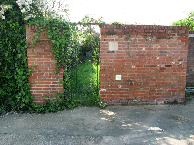 Jewish burial ground in Salthouse Lane, Ipswich