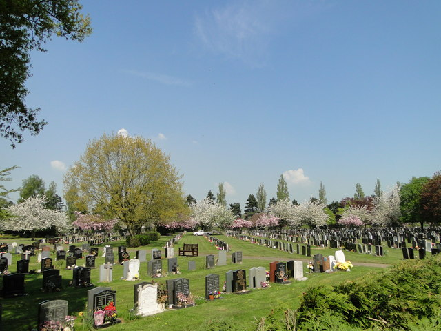 A small part of Ipswich New Cemetery
