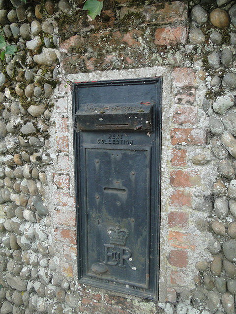 Disused postbox near Reydon Hall