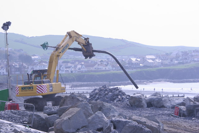 Beacon's end: Borth sea defences