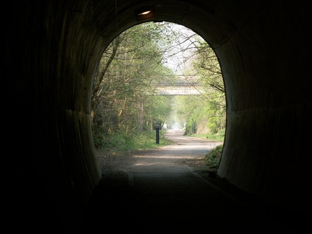 Leaving the Trans Pennine Trail Tunnel  Thurgoland