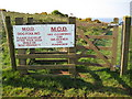 SX3853 : Kissing gate into Tregantle range by Philip Halling