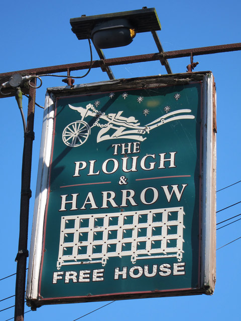 The Plough & Harrow sign