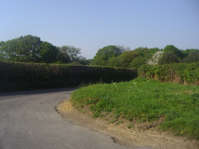 Junction of Codmore Wood Road and Blackwell Hall Lane