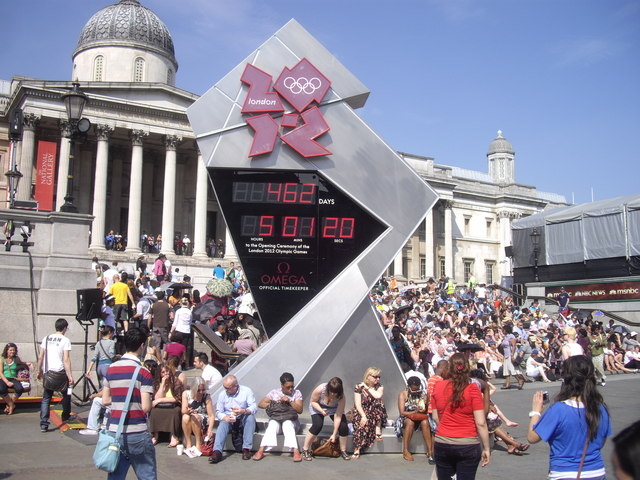 London 2012 Olympics Countdown Clock, Trafalgar Square