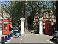 TQ2880 : Entrance to  Mount Street Gardens,  Mayfair by PAUL FARMER