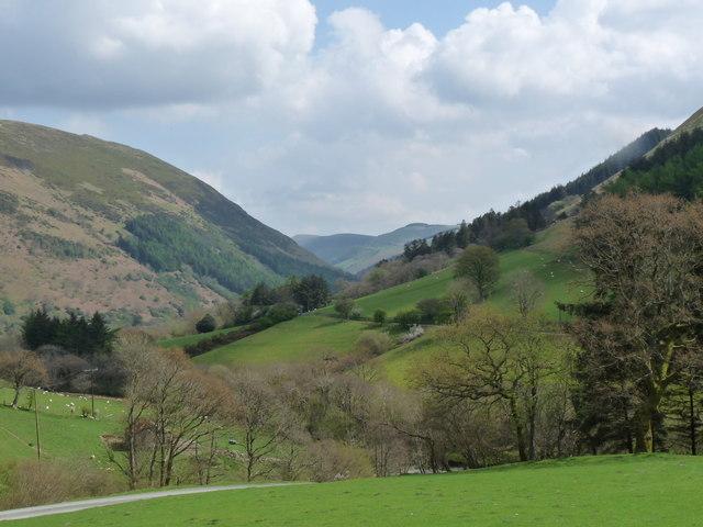 B road along valley