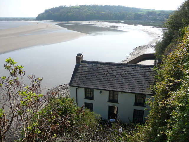 Dylan Thomas' boathouse at Laugharne