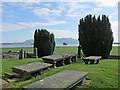 NO1201 : Cemetery above Loch Leven by Lis Burke