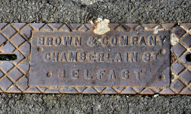 Browns drain cover, Belfast