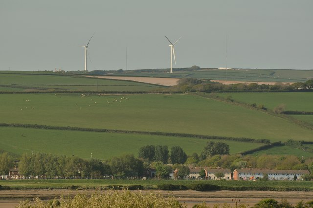 Wind Turbines on Fullabrook Wind Farm