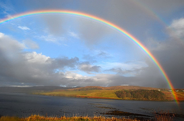 Halo over Loch Snizort Beag