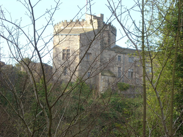 Rear view of Skipton Castle