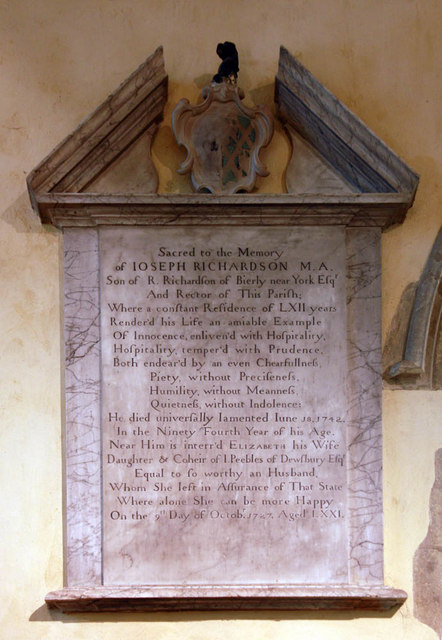 St Mary & All Saints, Dunsfold - Wall monument