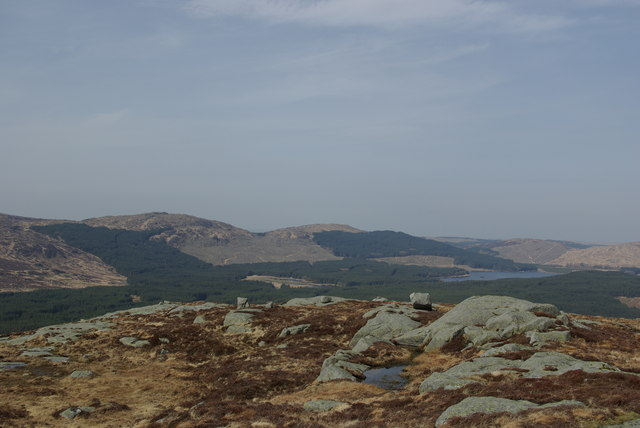View from Macaterick towards Loch Riecawr