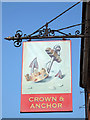 TR0160 : Crown & Anchor sign by Oast House Archive