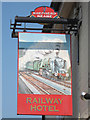 TR0160 : Railway Hotel sign by Oast House Archive