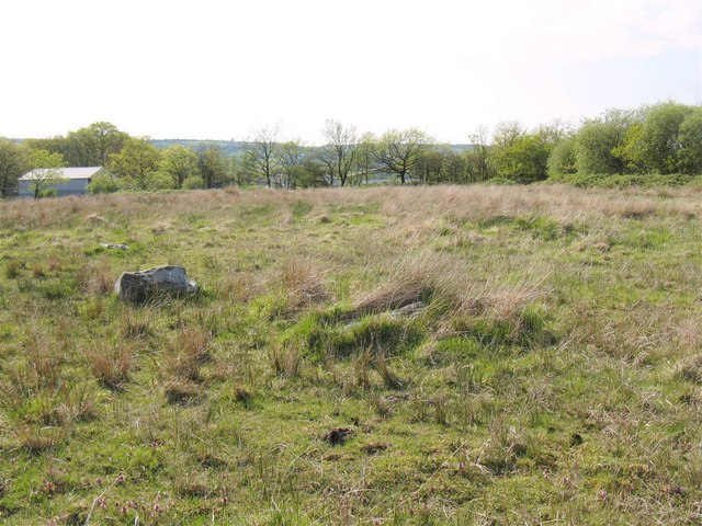 Remains of Y Naw Carreg stone circle
