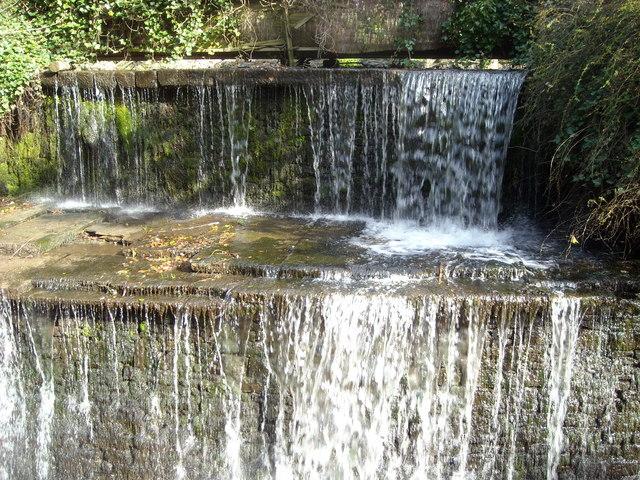 Waterfall into Eller Beck, Skipton