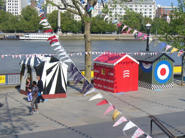 Beach Huts on the South Bank