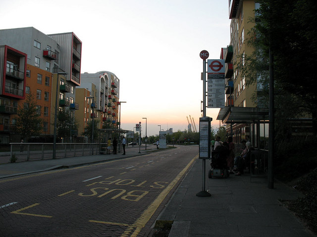 Bus stop on West Parkside