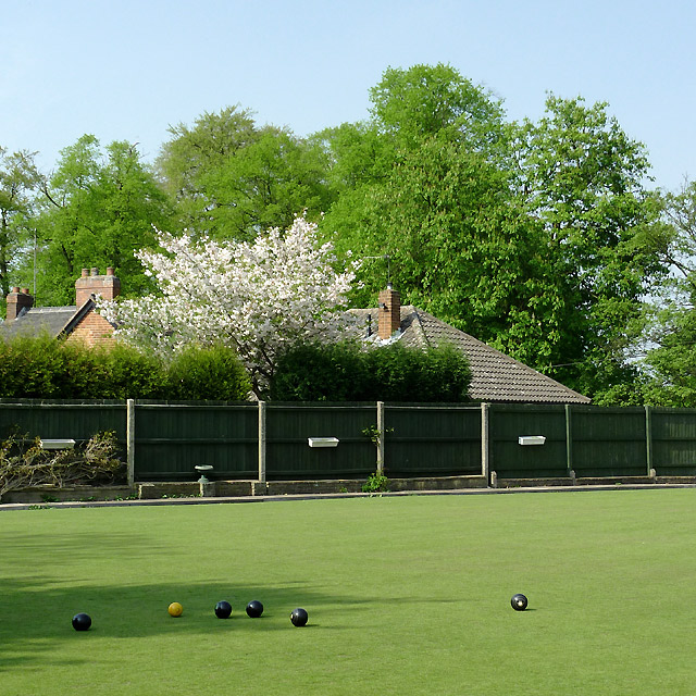 The green at Penn Bowling Club, Wolverhampton