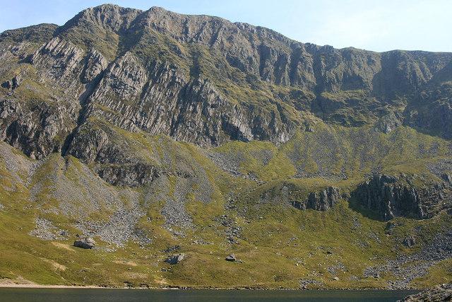 Looking south at the peak of Cadair Idris