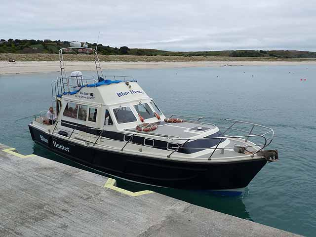 """Blue Hunter"" at Higher Town Quay, St Martin's"