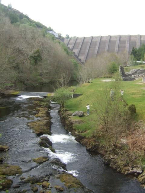 Afon Clywedog at Bryn Tail lead mine