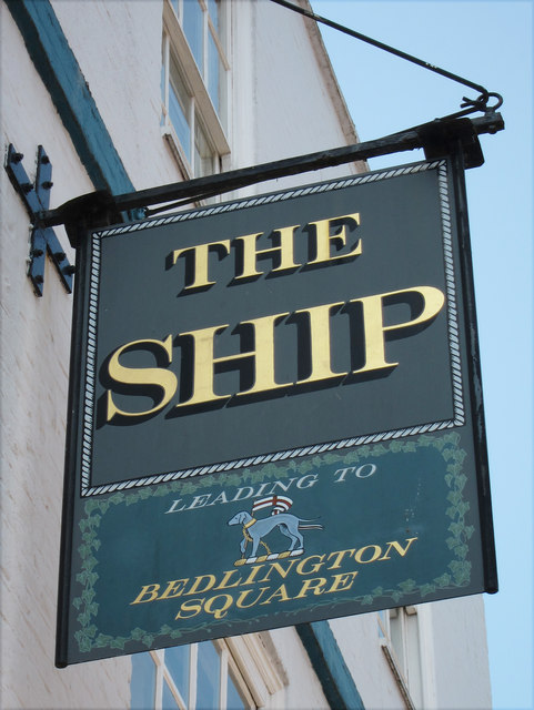 The Ship sign